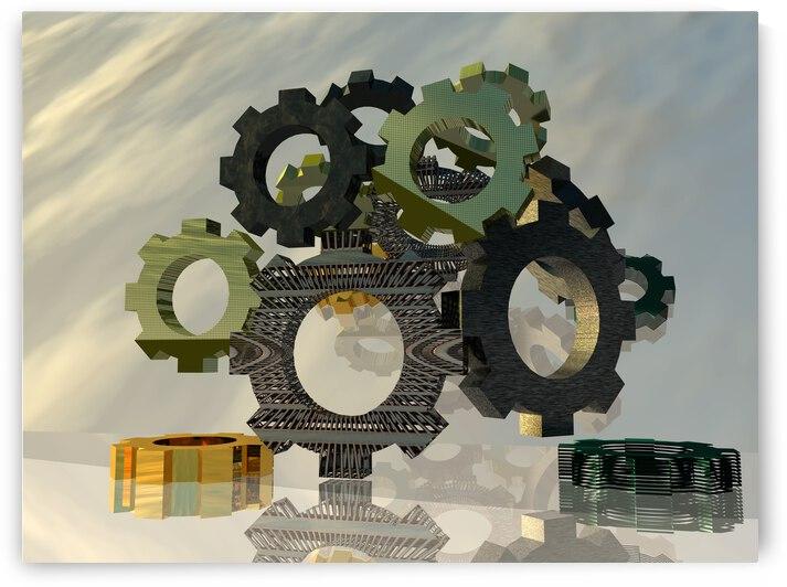 rendu 3d Gears of Life by ch Ragaine