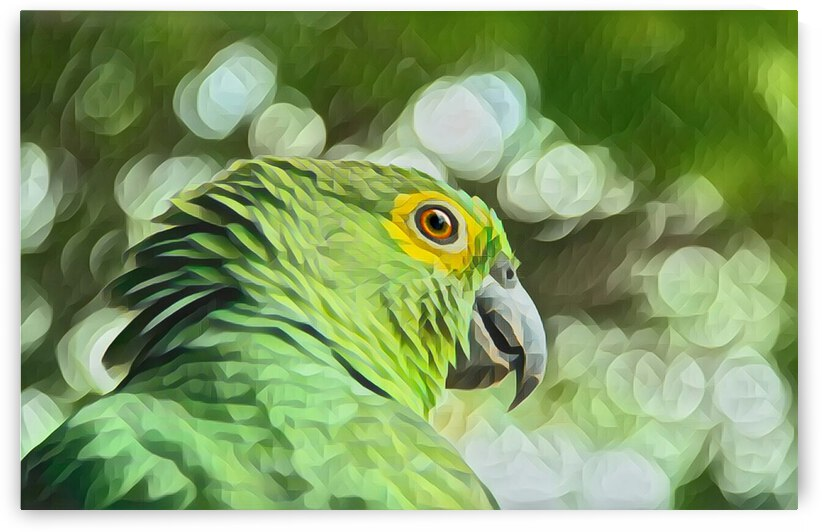Beautiful Nature Parrot Painting by Lovely Singam