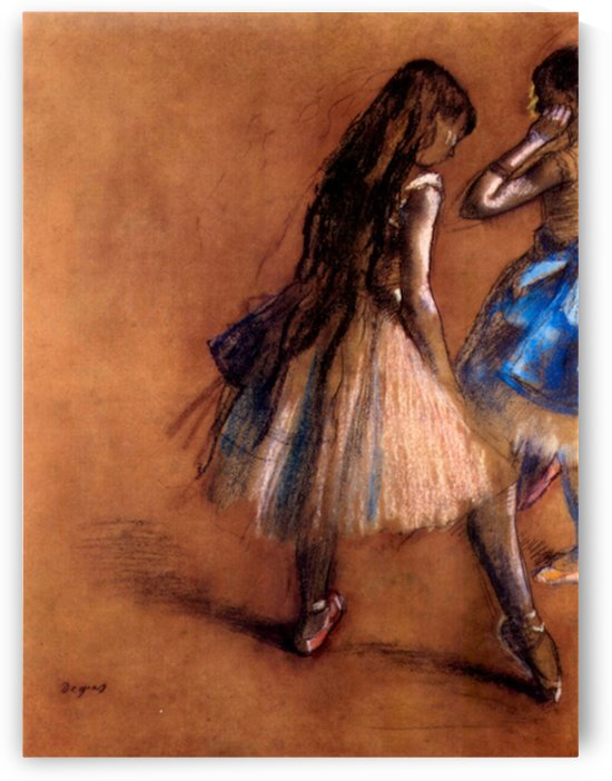 Two dancers 1 by Degas by Degas
