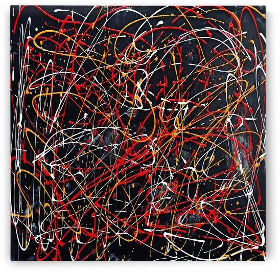 J Pollock Inspired Art N21004-1 by Edit Voros