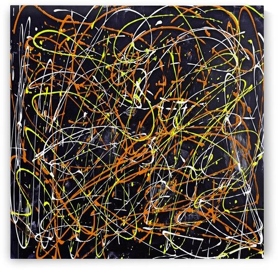 J Pollock Inspired Art N21004-3 by Edit Voros