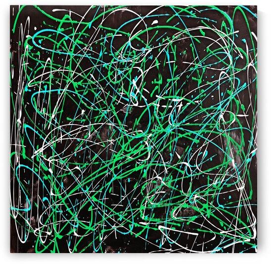 J Pollock Inspired Art N21004-5 by Edit Voros