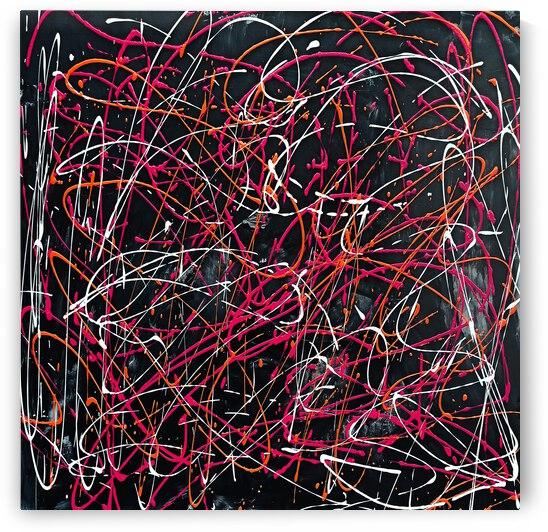 J Pollock Inspired Art N21004-7 by Edit Voros