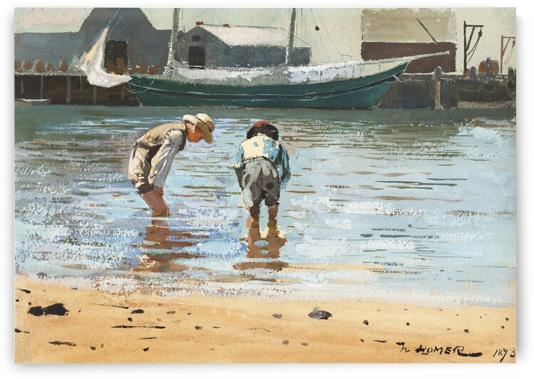 Winslow Homer Boys Wading 1873 by TOPARTGALLERY