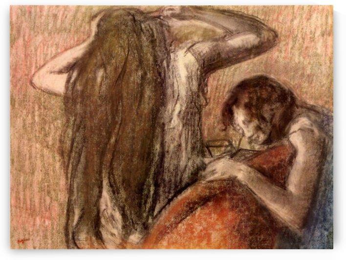 Two girls by Degas by Degas