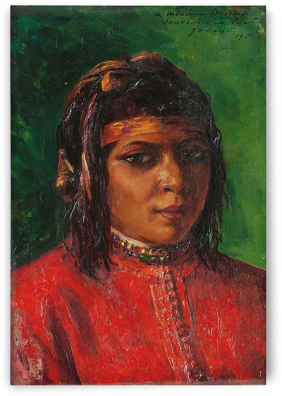 Marie Yvonne Laur Portrait of a Moroccan Woman 1921 by TOPARTGALLERY