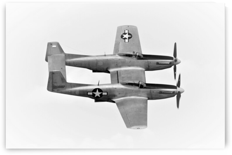 XP-82 Twin Mustang Airplane by Cameron Wilson Photos