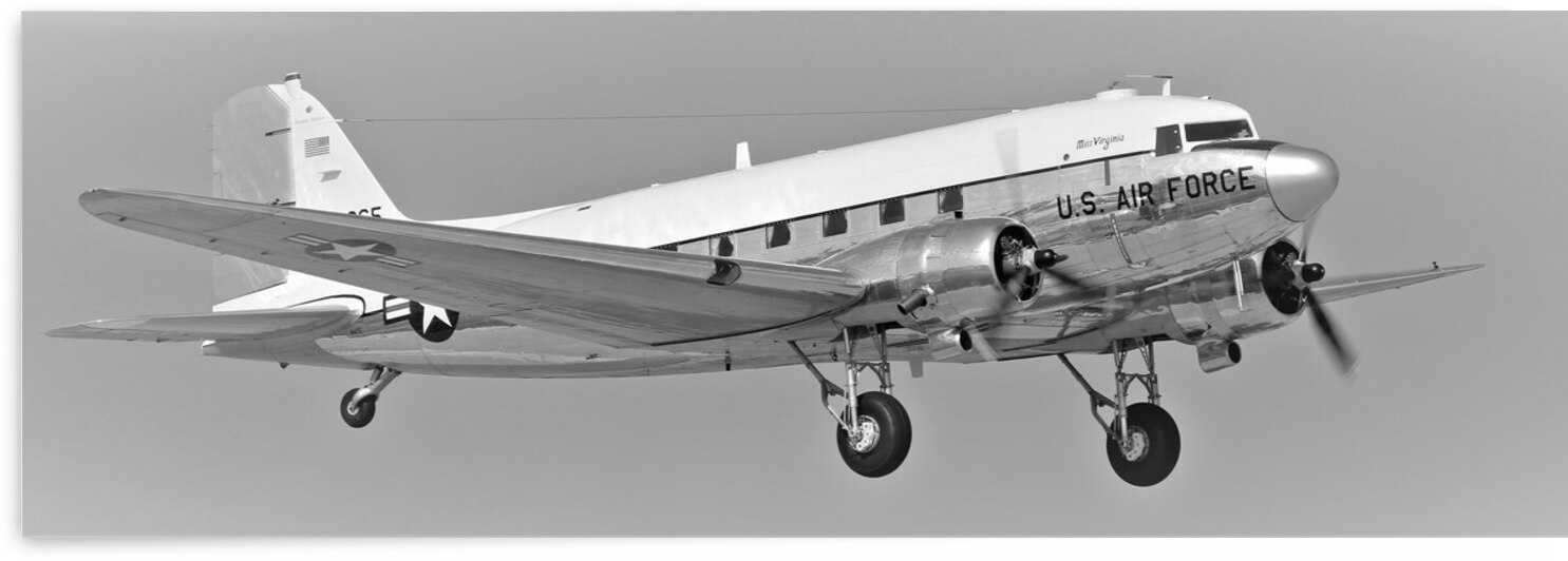 USAF Douglas C47 United States Air Force Airplane by Cameron Wilson Photos
