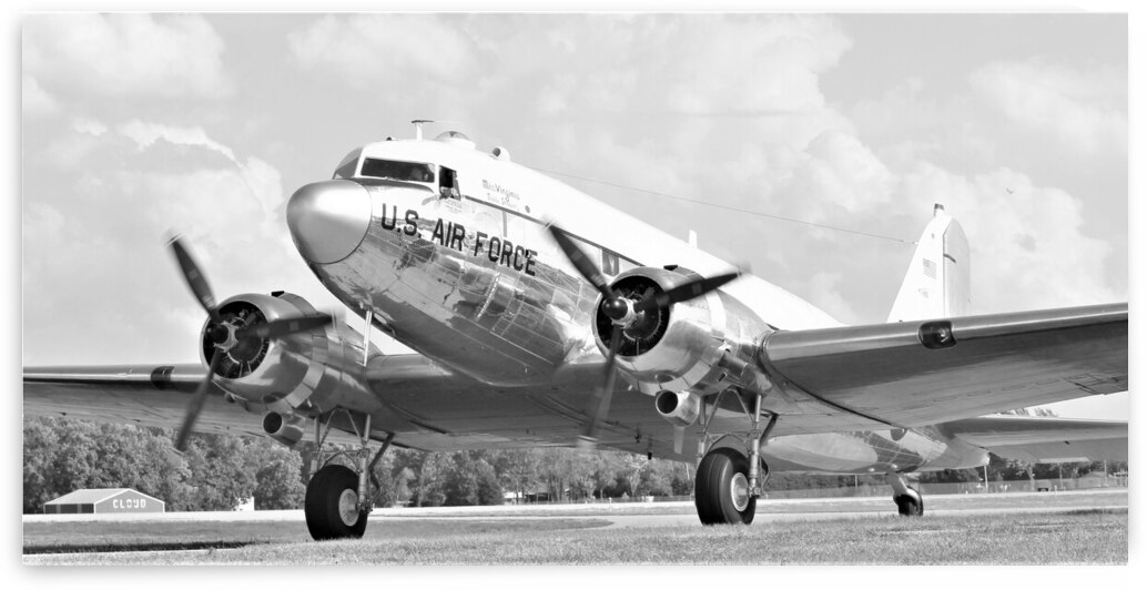 USAF C-47 Airplane United States Air Force by Cameron Wilson Photos
