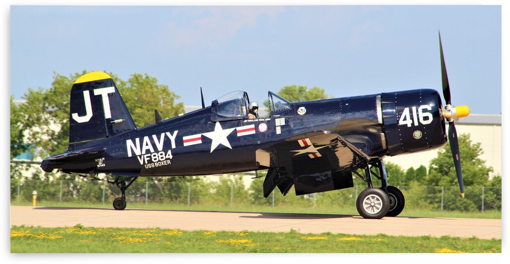 Vought F4U Corsair Airplane by Cameron Wilson Photos