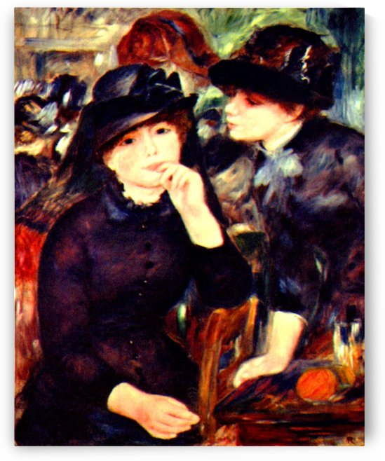 Two girls in black by