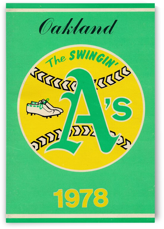 1978 Oakland Athletics Retro Poster by Row One Brand