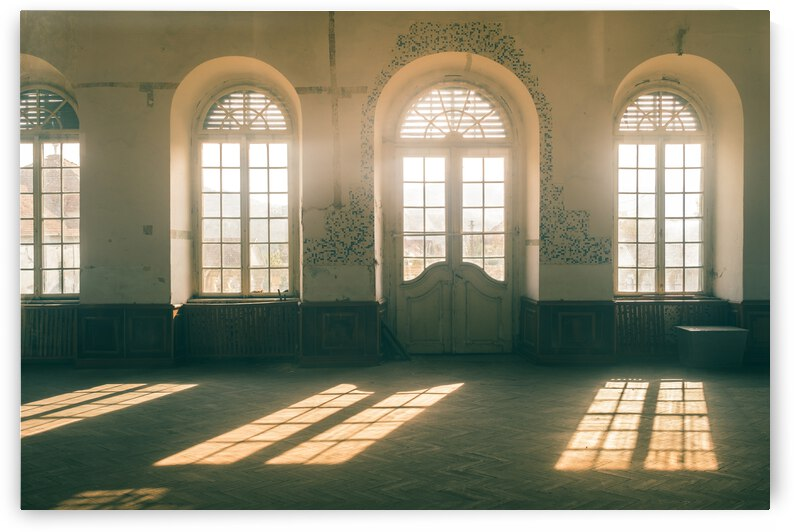 Beautiful light and windows in an abandoned ball room by Andreea Ligia