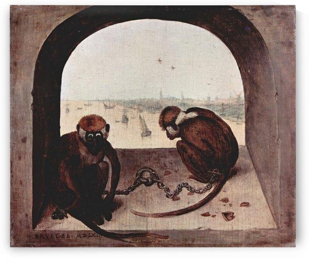 Two monkeys by Pieter Bruegel by Pieter Bruegel