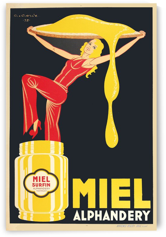 Miel Alphandery by VINTAGE POSTER