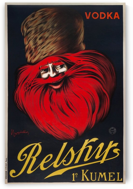 Original Vodka Relsky lithographic poster in colour, 1925 by VINTAGE POSTER
