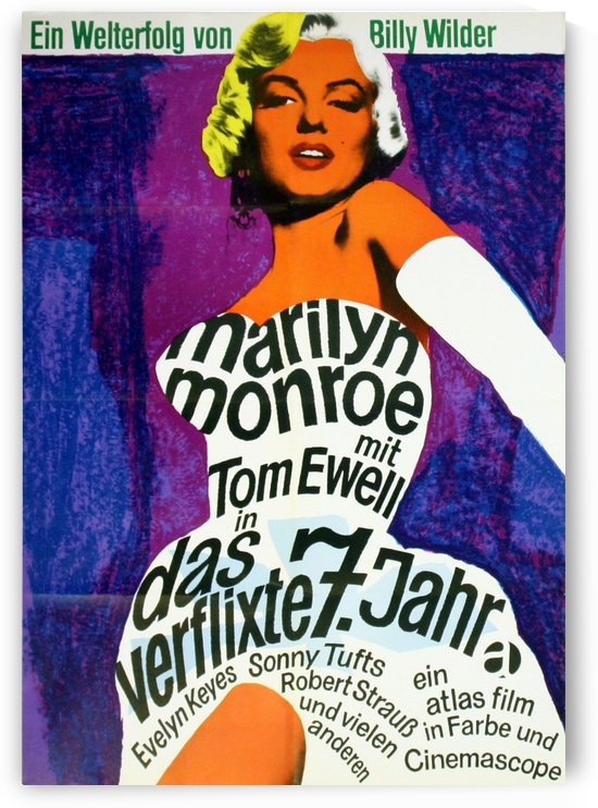 Original Vintage Movie Poster For The Seven Year Itch Starring Marilyn Monroe by VINTAGE POSTER