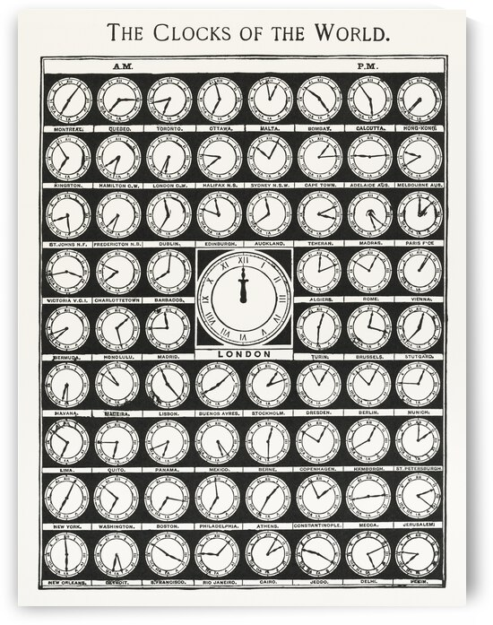 The Clocks of the World from Medicology 1910 Digitally enhanced by TOPARTGALLERY