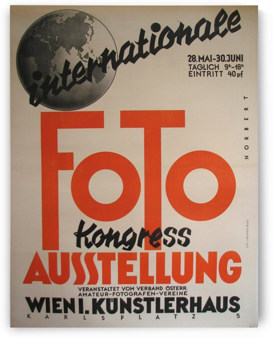 1930 Art Deco Vienna Austria Photography Exhibit Vintage Poster by VINTAGE POSTER
