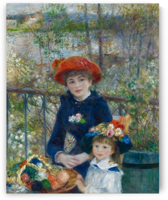Two sisters on the terrace 2 by Renoir by Renoir