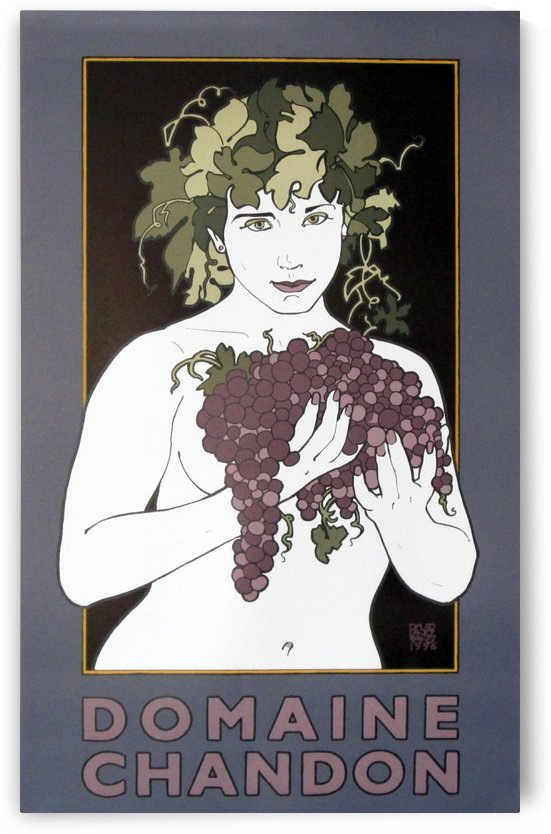 Domaine Chandon David Lance Goines Original Poster Vintage Posters Wine Posters by VINTAGE POSTER