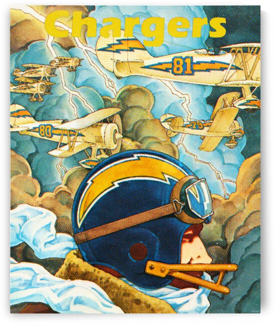 1982 San Diego Chargers Pilot Art by Row One Brand