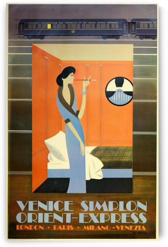 The Lady of the Orient Express by VINTAGE POSTER