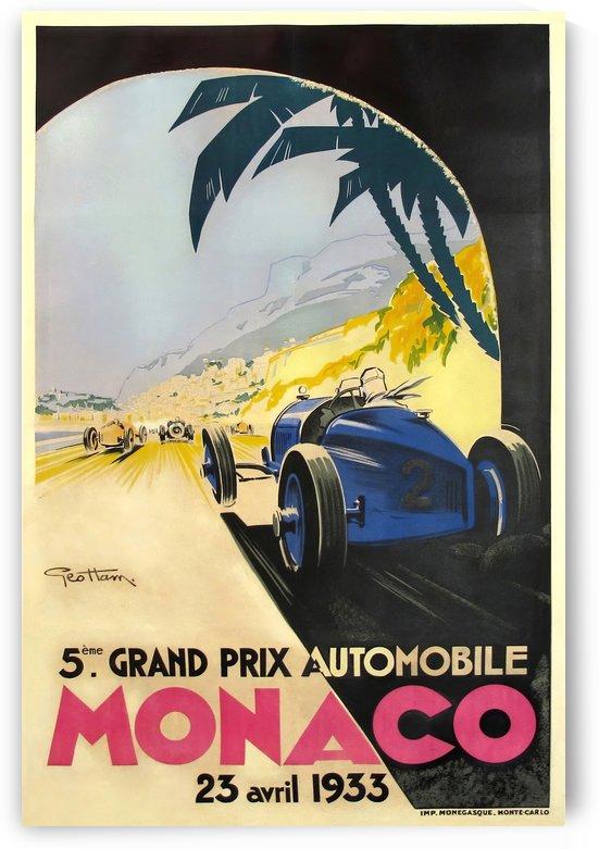Monaco Grand Prix Vintage Poster 1933 by VINTAGE POSTER