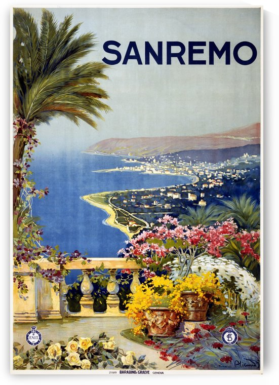 San Remo, travel poster, 1920 by VINTAGE POSTER