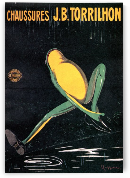 Frog with shoes vintage poster, 1906 by VINTAGE POSTER
