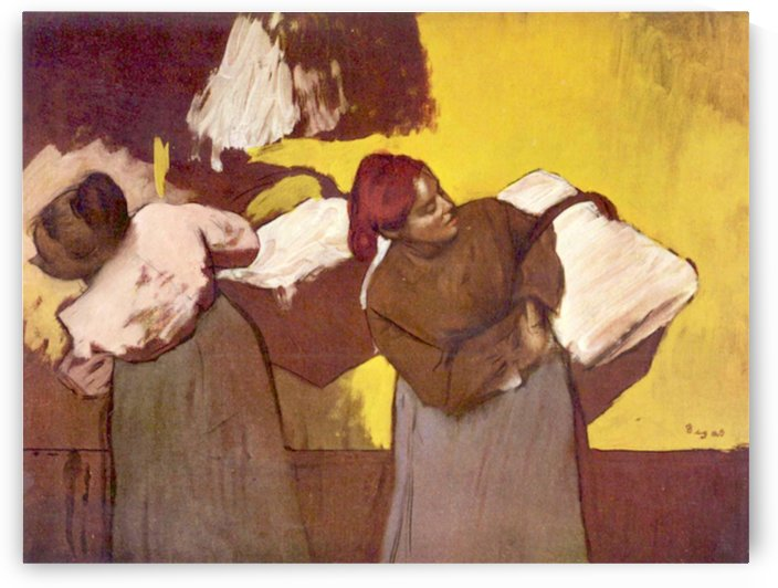 Two washer women by Degas by Degas