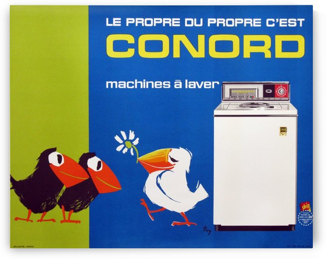 Original Appliance Poster, Conord Birds, 1960 by VINTAGE POSTER