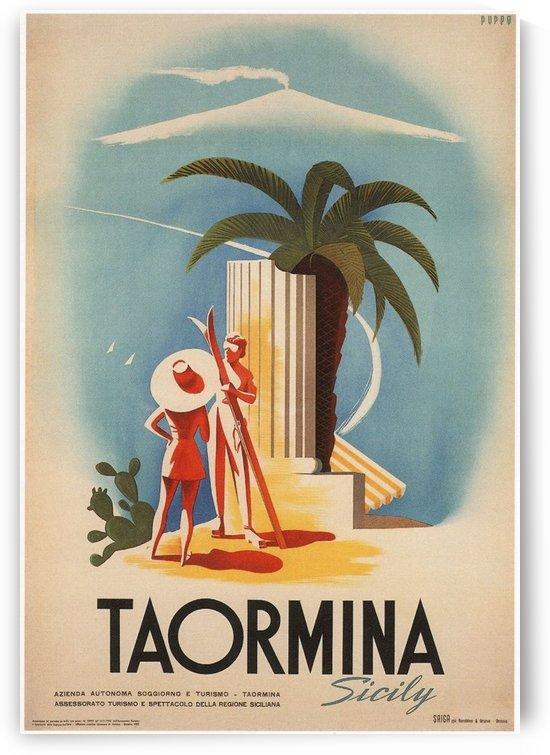 Taormina, Sicily Vintage Italian Travel Print by VINTAGE POSTER
