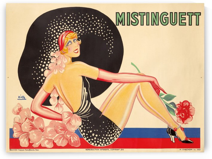 Mistinguett Original Vintage Poster by VINTAGE POSTER