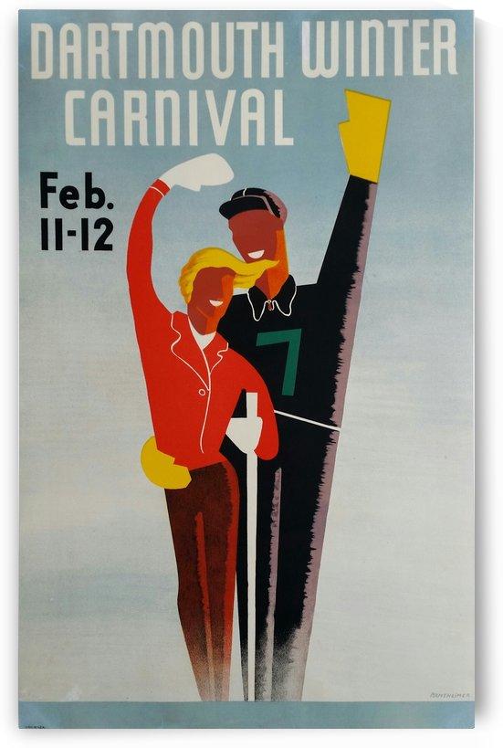 Original vintage poster ski Dartmouth Winter Carnival February by VINTAGE POSTER