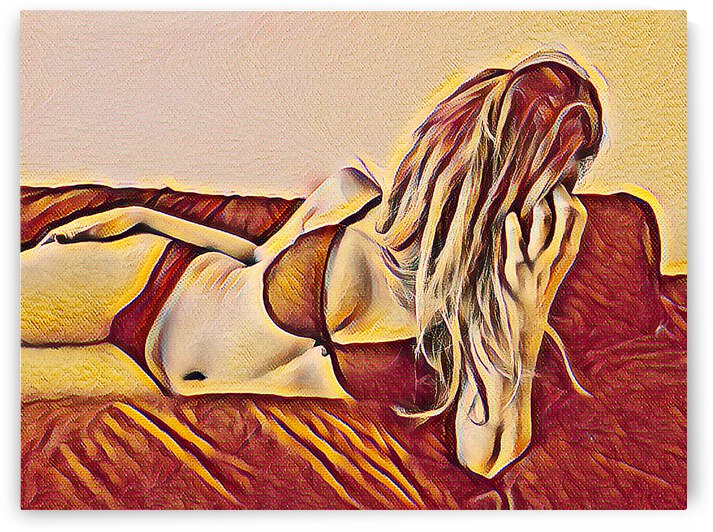 Orange girl by Giulio Bardelli
