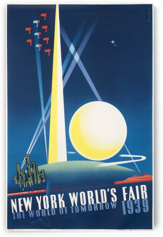 New York World Fair 1939 Original Poster by VINTAGE POSTER