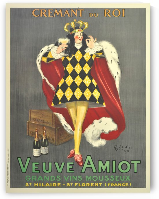 Art deco poster by Cappiello Veuve Amiot King of sparkling wines 1920 by VINTAGE POSTER