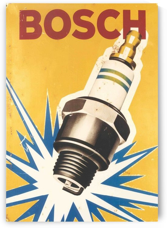 Vintage Bosch Spark Plug Automobile by VINTAGE POSTER
