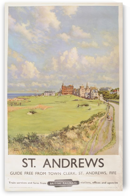 A Lithographed British Railways Saint Andrews Poster by VINTAGE POSTER