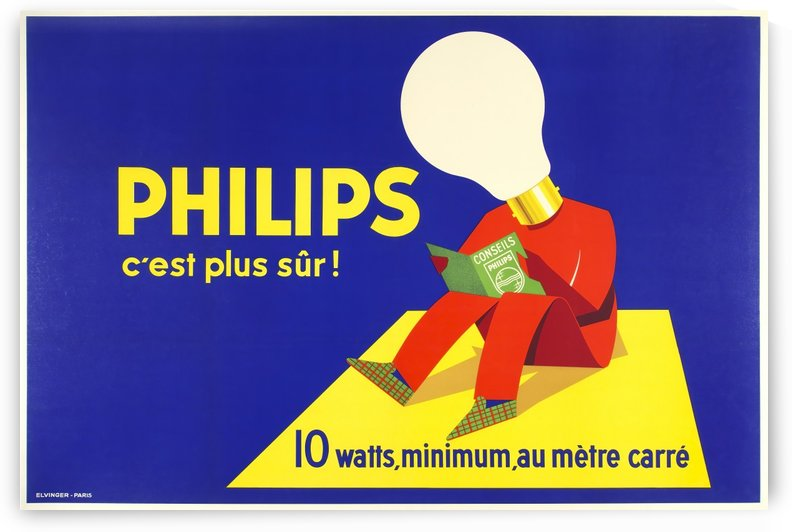 Philips electric bulb poster by VINTAGE POSTER
