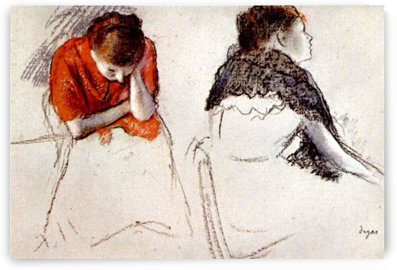 Two women seated by Degas by Degas