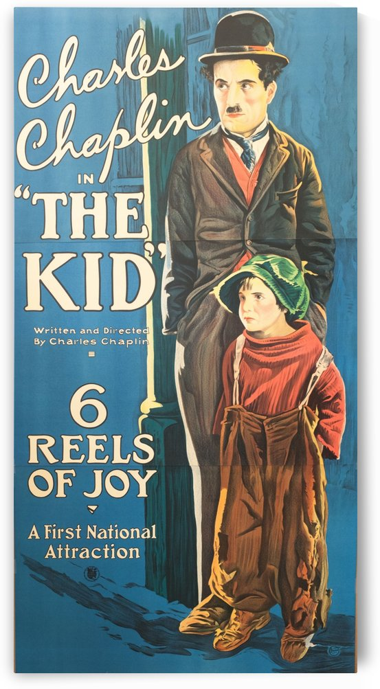 Charlie Chaplin The Kid classic movie poster vintage movie poster fine art lithograph one-sheet by VINTAGE POSTER