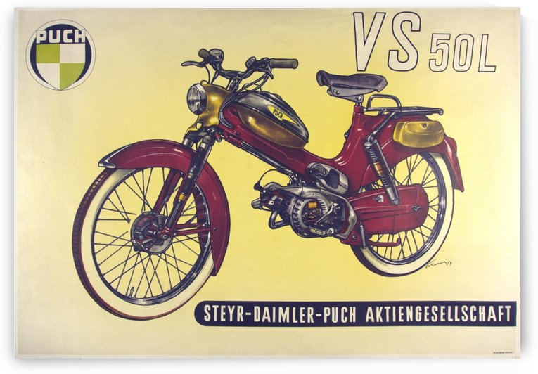 Puch VS 50L Original Poster by VINTAGE POSTER