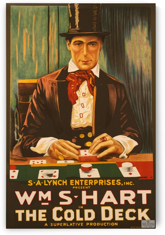 The cold deck gambling card game Classic movie poster vintage by VINTAGE POSTER