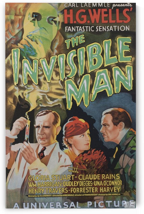 The Invisible Man Universal Picture Carl Laemmle vintage movie poster by VINTAGE POSTER