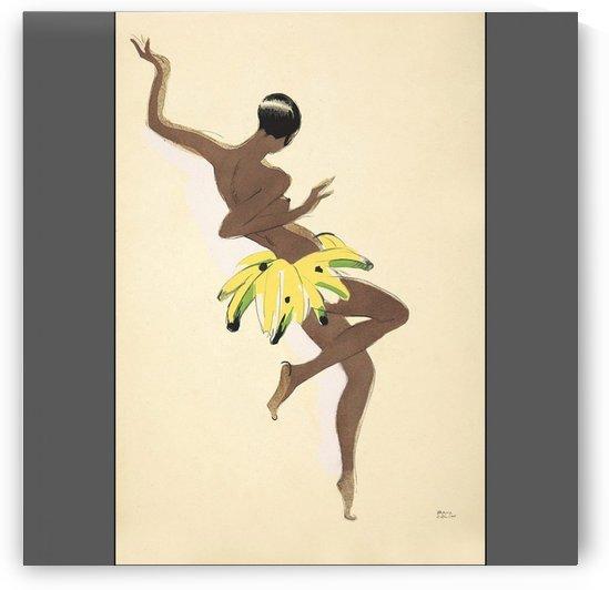 Josephine Baker, Banana Skirt Dance,Vintage Poster by VINTAGE POSTER