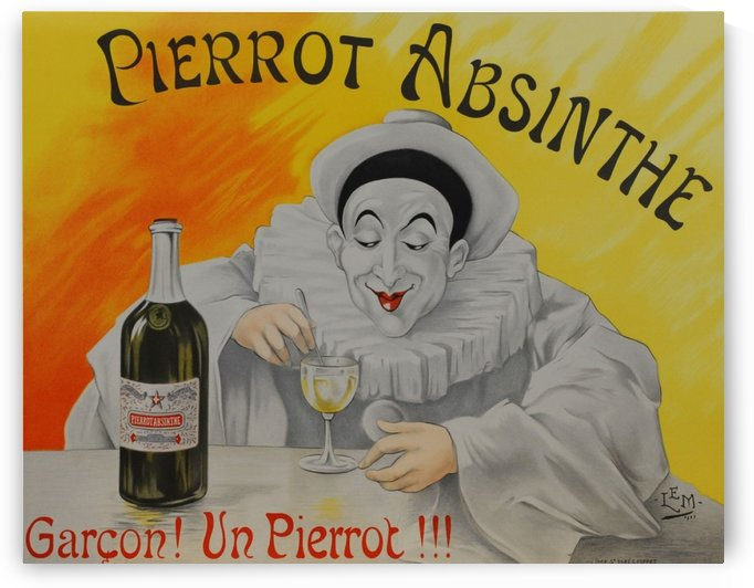 Pierrot Absinthe by VINTAGE POSTER