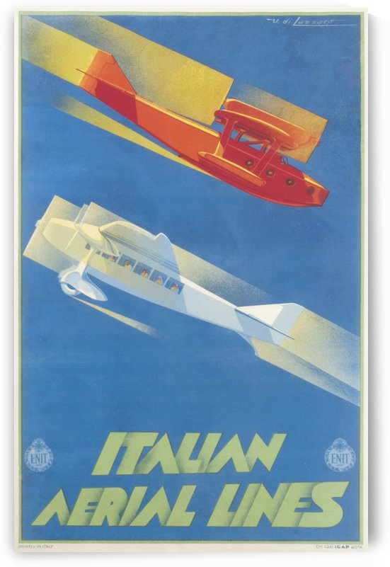 Italian Aerial Lines Original Poster by VINTAGE POSTER