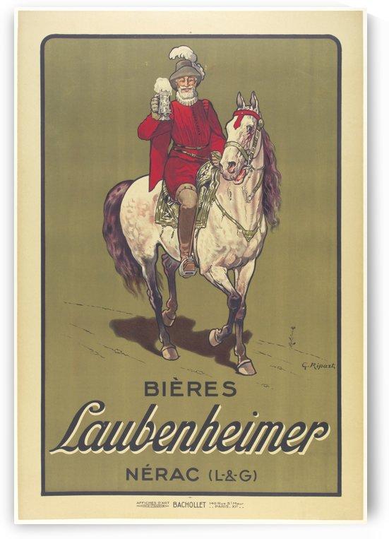 Bieres Laubenheimer beer beverage alcohol poster by VINTAGE POSTER